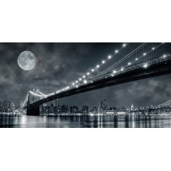 Brooklyn Bridge at night,...